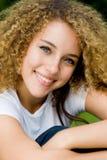 Menina bonita fora Imagens de Stock