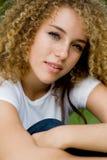 Menina bonita fora Imagem de Stock Royalty Free