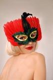 Menina bonita na máscara Imagens de Stock