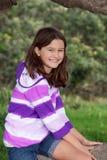 Menina bonita na natureza Fotografia de Stock
