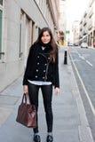 Menina bonita na rua Imagens de Stock