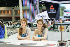 Menina bonita na 36th exposição automóvel internacional 2015 de Banguecoque Imagem de Stock Royalty Free