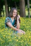 Menina bonita no campo Imagem de Stock