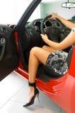 Menina bonita no carro Fotografia de Stock Royalty Free