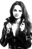 Menina bonita no casaco Imagens de Stock
