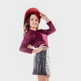 Menina bonita no chapéu Foto de Stock
