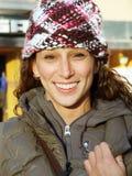 Menina bonita no chapéu do inverno Imagem de Stock