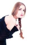 Menina bonita no estilo do glamor Imagem de Stock Royalty Free