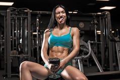 Menina bonita no gym Foto de Stock