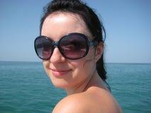 Menina bonita no mar Fotos de Stock