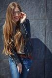 Menina bonita no outono Imagens de Stock Royalty Free