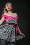 Menina bonita no vestido fotografia de stock