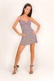 Menina bonita no vestido imagens de stock royalty free
