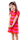 Menina bonita no vestido cor-de-rosa Imagens de Stock Royalty Free