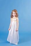 Menina bonita no vestido da deusa fotos de stock royalty free