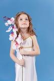Menina bonita no vestido da deusa imagem de stock royalty free