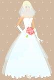 Menina bonita no vestido de casamento Foto de Stock Royalty Free