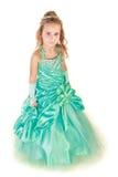 Menina bonita no vestido de noite Imagem de Stock
