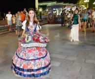 Menina bonita no vestido de noite Foto de Stock Royalty Free