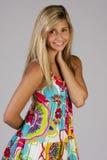 Menina bonita no vestido de partido Imagem de Stock Royalty Free