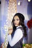 Menina bonita no vestido festivo Fotos de Stock Royalty Free