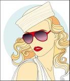 menina bonita nos óculos de sol ilustração royalty free