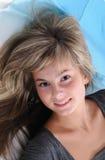 A menina bonita nova Fotografia de Stock