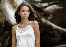 Menina bonita nova Imagens de Stock Royalty Free