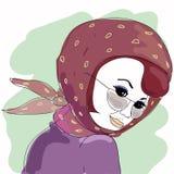 Mulher nova da forma ilustração do vetor