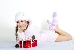 A menina bonita nova um anjo Imagem de Stock Royalty Free