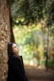 Menina bonita pensativa Fotos de Stock