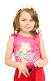 Menina bonita pequena fotos de stock royalty free