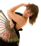 Menina bonita que dansing Fotografia de Stock Royalty Free