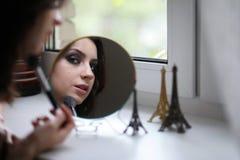 Menina bonita que faz a composição Foto de Stock Royalty Free