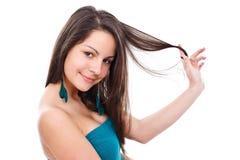 Menina bonita que levanta à câmera Imagens de Stock Royalty Free