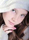 Menina bonita que olha calma Fotografia de Stock Royalty Free
