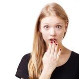 Menina bonita retrato surpreendido Imagens de Stock