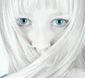 Menina bonita tímida Fotografia de Stock