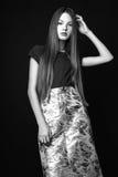 Menina bonito adolescente com o cabelo longo que levanta o retrato da natureza do estúdio Rebecca 36 Imagem de Stock Royalty Free