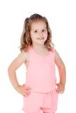 Menina bonito com a criança de três anos que olha a câmera Imagens de Stock Royalty Free