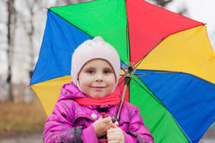 Menina bonito com guarda-chuva Imagem de Stock