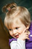 Menina bonito com pigtails Imagem de Stock Royalty Free