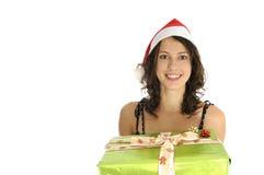 Menina bonito de Santa Foto de Stock