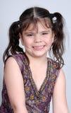 Menina bonito de sorriso foto de stock