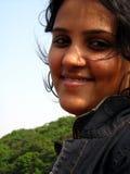 Menina bonito de sorriso Fotos de Stock