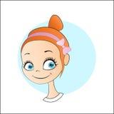 Menina bonito de sorriso ilustração royalty free