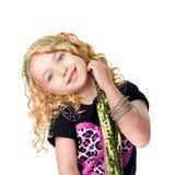 Menina bonito do balancim Foto de Stock Royalty Free