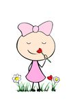 Menina bonito dos desenhos animados Fotografia de Stock Royalty Free