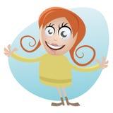 Menina bonito dos desenhos animados Fotos de Stock