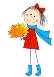Menina bonito dos desenhos animados Fotografia de Stock